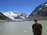 Jon at lake and Cerro Torre