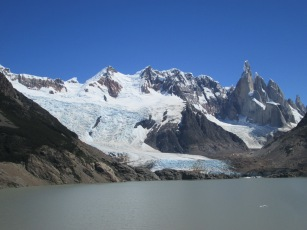 Lake Torre with Cerro Torre and glacier