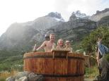 Los Cuernos hot tubbing!