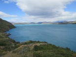 Big, blue, glacial lakes in Torres del Paine