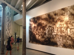 Art museum in La Boca, with paintings made by fire and explosions