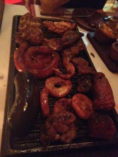 Assorted grill at steakhouse in BA - a lot of it was too adventurous for us - language was a barrier, but pretty sure there were intestines, maybe a heart, blood suasage, and other mysteries