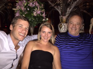 Jen with the two most important men in her life, enjoying drinks at one of the nicest hotels in Buenos Aires