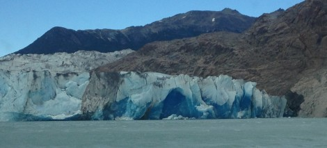 Viedma glacier - amazing dark blue