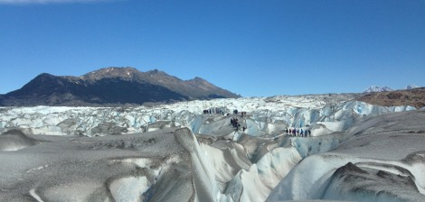 Hiking along the Viedma glacier