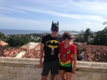 Our costumes for Carnaval, posing at the top of the hill in Olinda