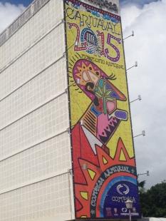 Olinda building decorated