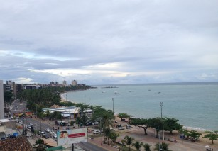 View of Maceio beach from our hotel rooftop pool