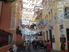 Old town Salvador decked-up from Carnaval