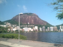 View across the lagoon in Rio