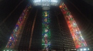 The inside of The Metropolitan Cathedral in Rio was beautiful
