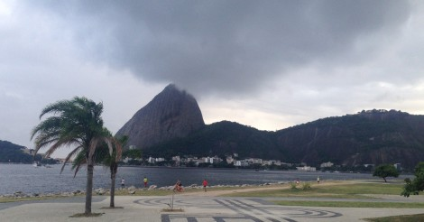 View from Porcau, a famous Brazilian steakhouse we went to for our last dinner in Rio