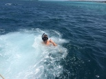 Jon snorkeling at the Rosario Islands