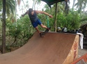 Jon on the half pipe