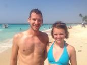 Jen & Jon at Playa Blanca